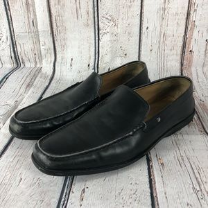 Tods Mens loafers size 9.5 black made in Italy